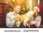 merry christmas and happy new...   Shutterstock . vector #336999596