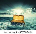 creative design of box lost on... | Shutterstock . vector #337003616