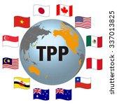 tpp trans pacific partnership ... | Shutterstock .eps vector #337013825