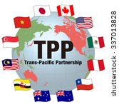 tpp trans pacific partnership ... | Shutterstock .eps vector #337013828