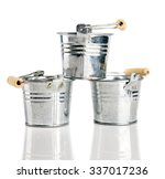 bucket on a white background | Shutterstock . vector #337017236