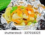 pike with carrots  leek  basil...