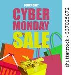cyber monday poster. black... | Shutterstock .eps vector #337025672