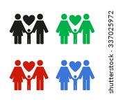 family   color vector icon | Shutterstock .eps vector #337025972