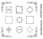 frames. decorative elements.... | Shutterstock .eps vector #337027442