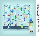 poster with biochemist... | Shutterstock .eps vector #337030886