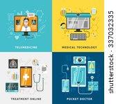 medical treatment online... | Shutterstock .eps vector #337032335