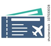 air tickets vector icon. style... | Shutterstock .eps vector #337033028