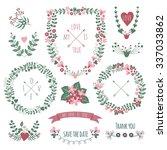 vintage  label set hand drawn... | Shutterstock .eps vector #337033862
