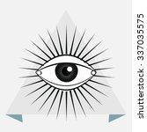 sacred geometry   magic eye  ... | Shutterstock .eps vector #337035575