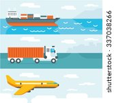vector illustration of delivery ... | Shutterstock .eps vector #337038266