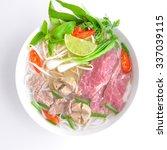 vietnamese noodle  pho beef soup | Shutterstock . vector #337039115