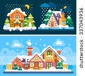 winter is coming  so here're... | Shutterstock .eps vector #337043936