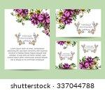 vintage delicate invitation... | Shutterstock .eps vector #337044788