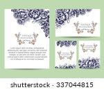 vintage delicate invitation... | Shutterstock .eps vector #337044815