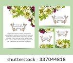 vintage delicate invitation... | Shutterstock .eps vector #337044818