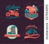 logo vintage outdoor theme ... | Shutterstock .eps vector #337053092