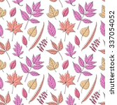 leaves seamless pattern | Shutterstock .eps vector #337054052