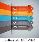 infographic template in the... | Shutterstock .eps vector #337056026