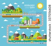 ecology city scenery concept in ... | Shutterstock . vector #337056608