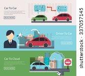 iot in automotive concept... | Shutterstock . vector #337057145