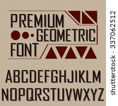 premium geometric font with... | Shutterstock .eps vector #337062512