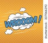 wrooom  wording sound effect... | Shutterstock .eps vector #337066292