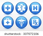 health care and medicine on... | Shutterstock .eps vector #337072106