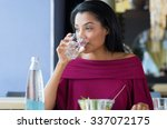 closeup shot of young woman... | Shutterstock . vector #337072175