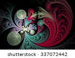 Abstract Floral Ornament On...