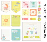 baby shower or arrival set  ... | Shutterstock .eps vector #337088426