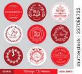 christmas labels  banners and... | Shutterstock .eps vector #337088732