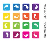 arrow sign icon set. simple... | Shutterstock .eps vector #337091696