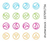 arrow sign icon set. simple... | Shutterstock .eps vector #337091756