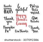 collection of handdrawn... | Shutterstock .eps vector #337092386