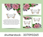 invitation with floral... | Shutterstock .eps vector #337093265