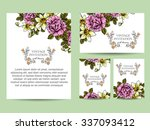 invitation with floral... | Shutterstock .eps vector #337093412