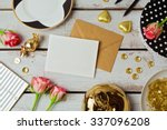 greeting card mock up template...   Shutterstock . vector #337096208