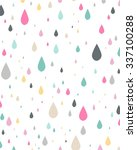 colorful drops. vector... | Shutterstock .eps vector #337100288