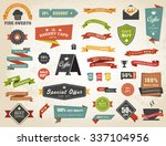 vintage vector set of  labels... | Shutterstock .eps vector #337104956
