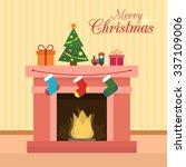 Christmas Fireplace With Socks...