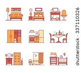 home room types furniture signs ...   Shutterstock .eps vector #337110326