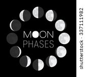 moon phases circle | Shutterstock .eps vector #337111982