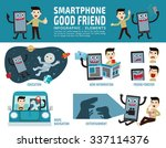 smartphone addiction. good... | Shutterstock .eps vector #337114376