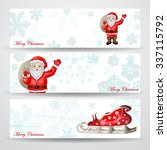 christmas banners with santa... | Shutterstock .eps vector #337115792