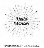 light rays of burst. hello... | Shutterstock .eps vector #337116662