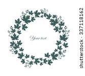 floral frame. circle pattern.... | Shutterstock .eps vector #337118162