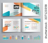 white brochure template design... | Shutterstock .eps vector #337123358