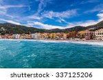 beautiful view of sea and town... | Shutterstock . vector #337125206