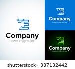 modern stylish logo with letter ... | Shutterstock .eps vector #337132442